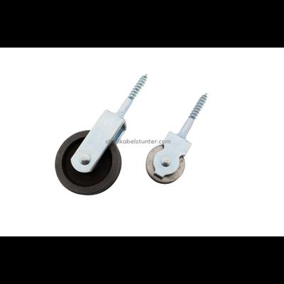 Schroefkatrol met rvs schijf of wiel