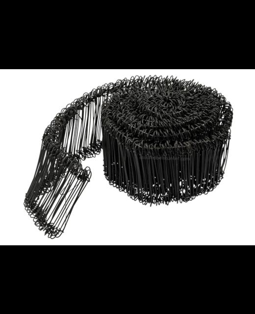 Tie-wire - Zakkensluiters Zwart Geplastificeerd 1,4x100mm