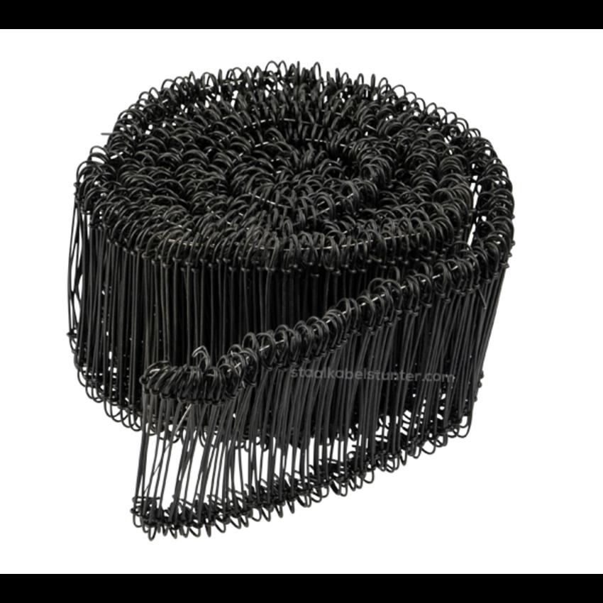 Tie-wire - Twisting wires black PVC 1,4x100mm