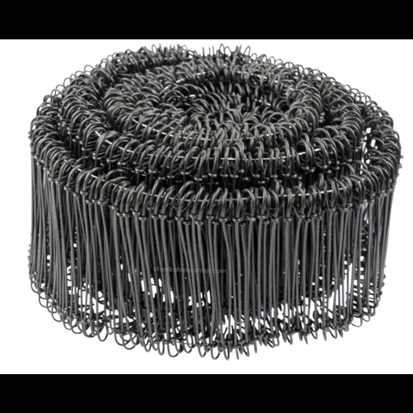 Tie-wire - Zakkensluiters Zwart Geplastificeerd 1,4x120mm