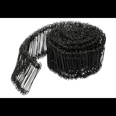 Technx Tie-wire - Zakkensluiters Zwart Geplastificeerd 1,4x140mm