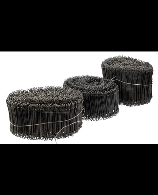 Tie-wire - Zakkensluiters Zwart Geplastificeerd 1,4x140mm