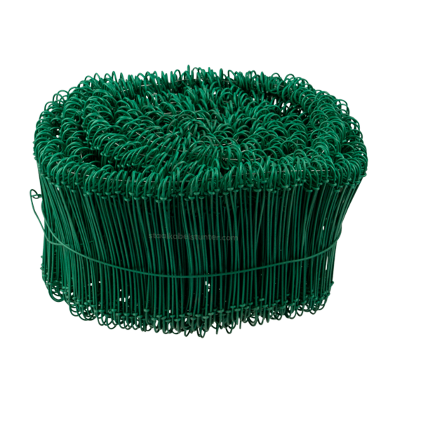 Tie-wire - Zakkensluiters Groen Geplastificeerd 1,4x120mm