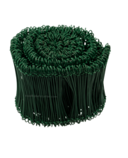 Tie-wire - Twisting wires green PVC 1,4x140mm