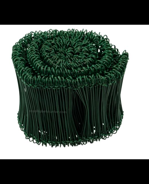 Tie-wire - Zakkensluiters Groen Geplastificeerd 1,4x140mm