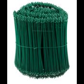 Technx Tie-wire - Zakkensluiters Groen Geplastificeerd 1,4x240mm