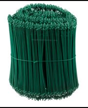 Tie-wire - Zakkensluiters Groen Geplastificeerd 1,4x240mm