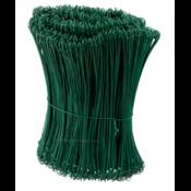 Technx Tie-wire - Zakkensluiters Groen Geplastificeerd 1,4x300mm