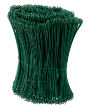 Tie-wire - Twisting wires green PVC 1,4x300mm