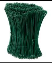 Tie-wire - Zakkensluiters Groen Geplastificeerd 1,4x300mm