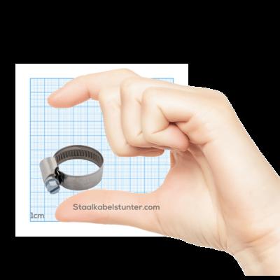 Schlauchschellen Edelstahl 12-20 mm mit Schneckengewinde DIN 3017