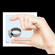 Schlauchschellen Edelstahl 16-25mm mit Schneckengewinde DIN 3017