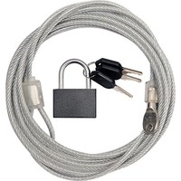 Security Kabel 3 meter met hangslot x 4mm