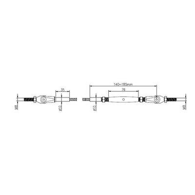 Wire Rope Balustradekit 5mm - press terminal