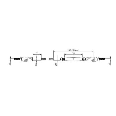 Staalkabel Balustradekit 6mm - Persterminal
