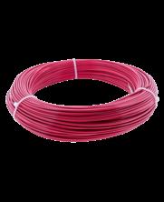 Rood roestvaststaal staalkabels 2/3 mm geplastificeerd 100 meter