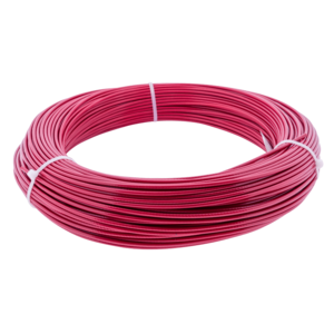stainless Wire Rope 2/3 mm Red PVC 100 meter