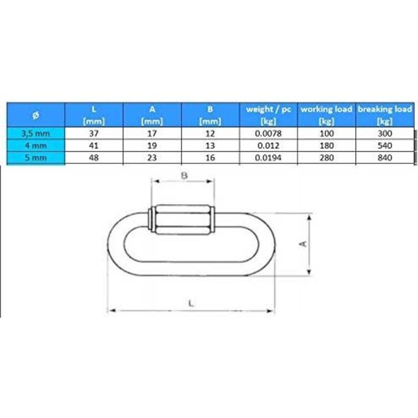 Noodschakel 50mm kettingschakel verbinden
