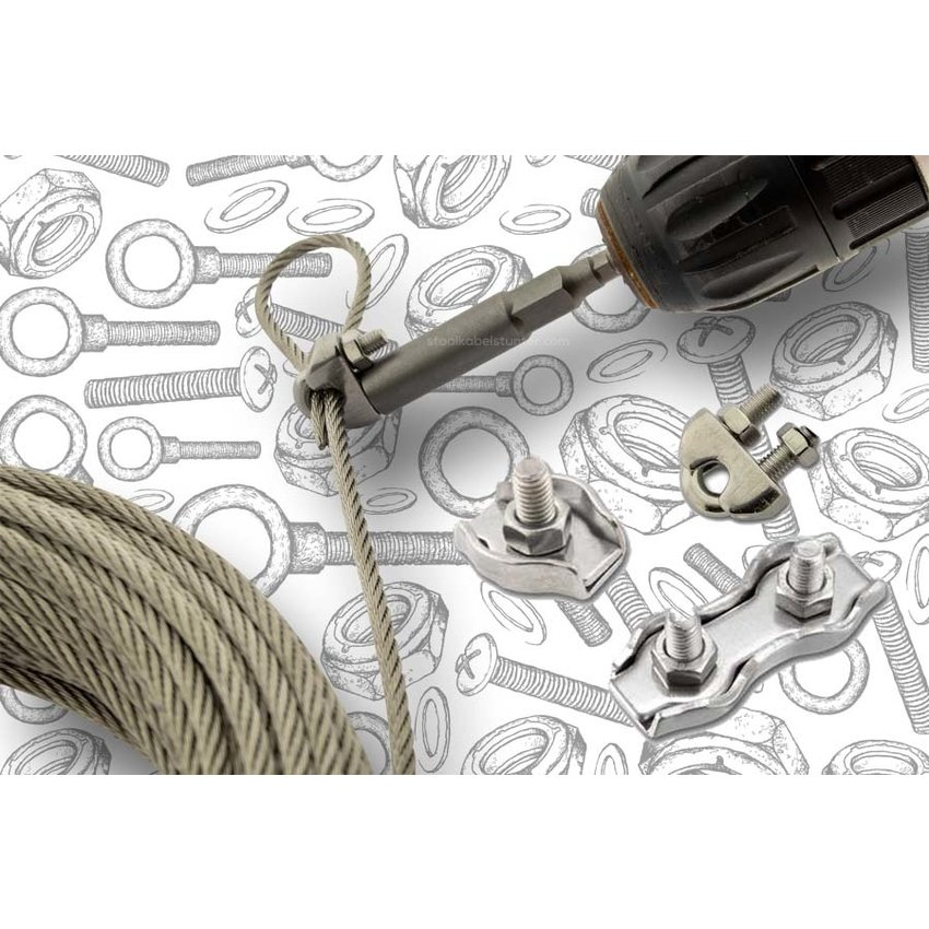Wire Rope Clip bit for  m4 - 7mm diepe connection