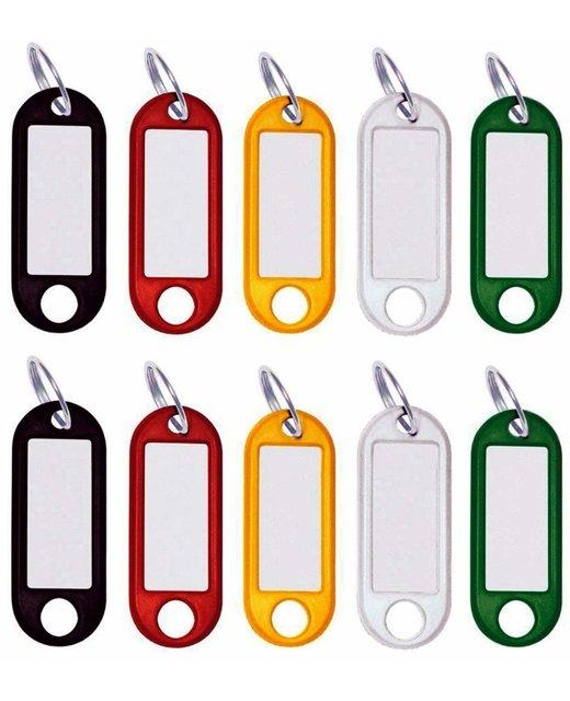 Schlüsselanhänger beschriftbar zum Beschriften 100 Stück