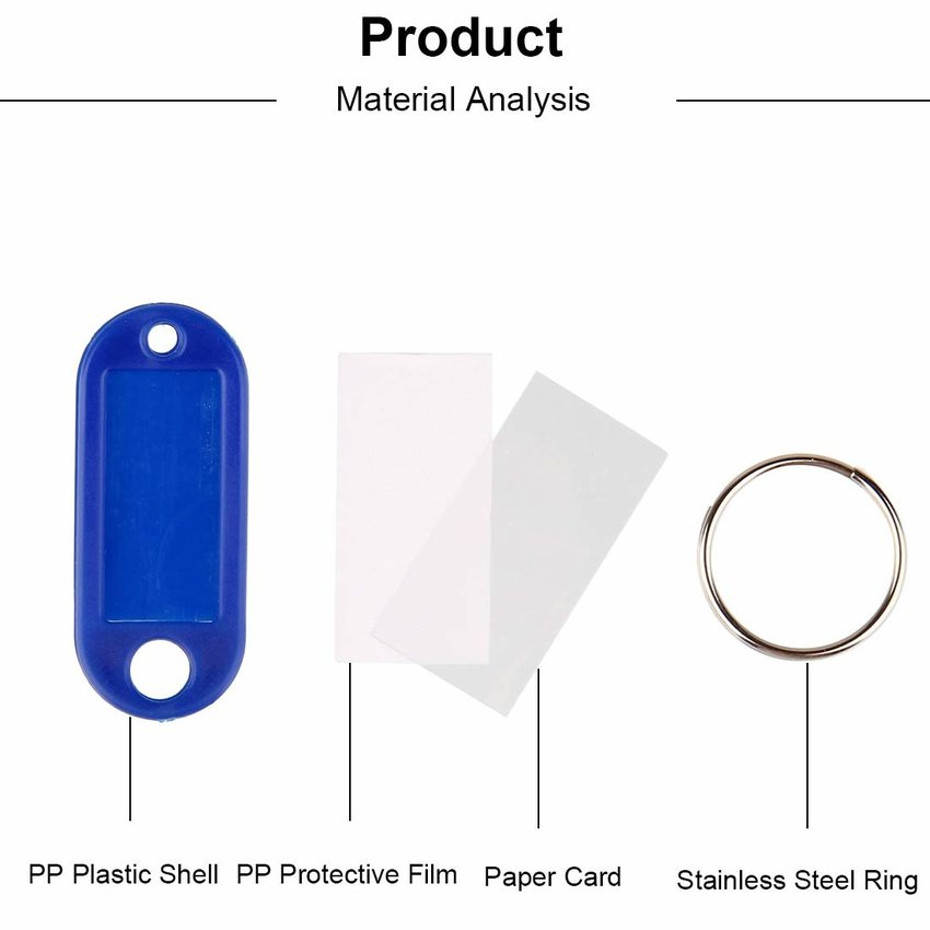 Keylabels with writable label 100 pieces