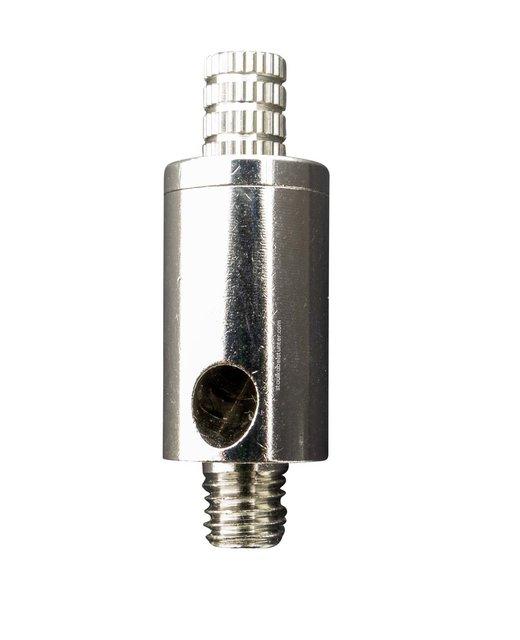 Gripper met fixeerschroef - voor 2.5mm staalkabel met m8 aansluiting en zijuitgang