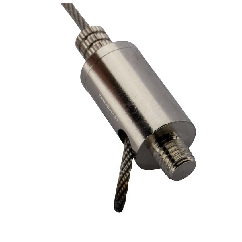 Gripper with fixscrew - for  2.5mm Wire Rope with m8 connection and side exit