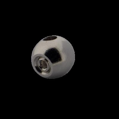 Rvs Eindstoppen Balvormig voor  2 und 3mm staalkabel