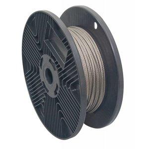 RVS Staalkabel 3 mm extra soepel 7x19 - 100 meter