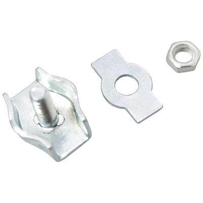 Stahldrahtklem verzinkt 3mm simplex
