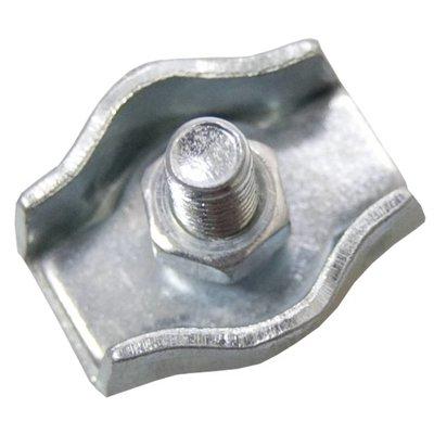 Staaldraadklem verzinkt 4mm simplex