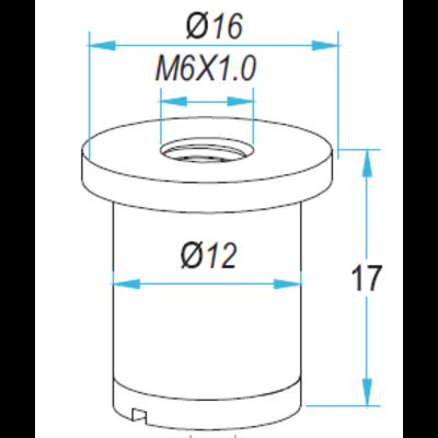 Technx Plafondbevestiging voor staalkabel