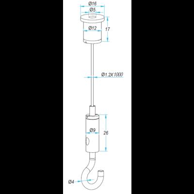 Technx Suspension kit Wire Rope 6