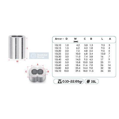 Presshülsen 10mm Vorteil  8 geformt  50 Stück