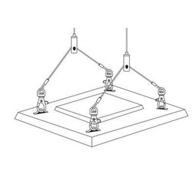 Technx Aufhängesystem mit Drahtseil 1