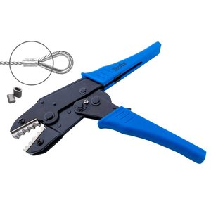 Technx Crimpzange/Presszange zu verwenden bei Aluminium Drahtklammern. Crimping Tool.