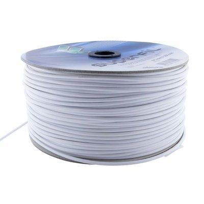 Filomat Edelstahl Niro rostfrei Stahldraht 5 mm Weiß PVC Ummantelung 250 meter