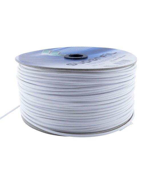roestvaststaal Staaldraad 5 mm wit PVC omspoten 250 meters