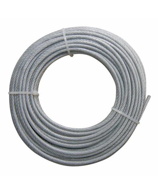 roestvaststaal Staalkabels 3/4 mm geplastificeerd 20 meter