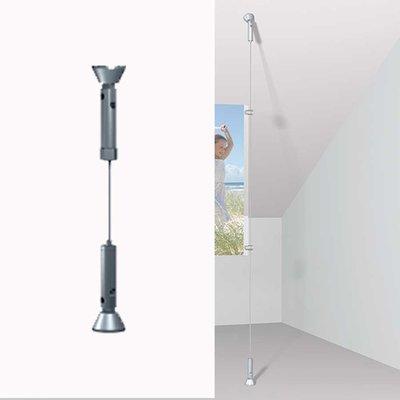 Artiteq Staalkabelrail voor plafond, wand en vloer.