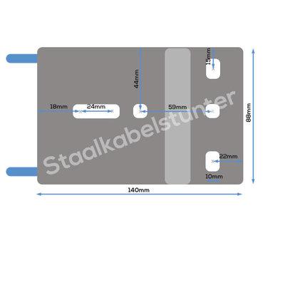 Handlieren met 10 meter staalkabel en haak