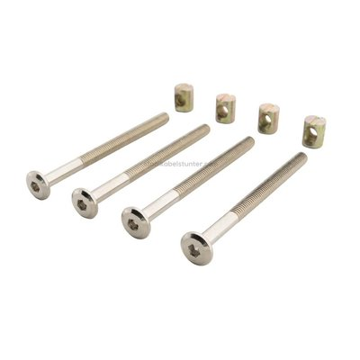 connecting bolt and nut m6x80mm 4 pieces