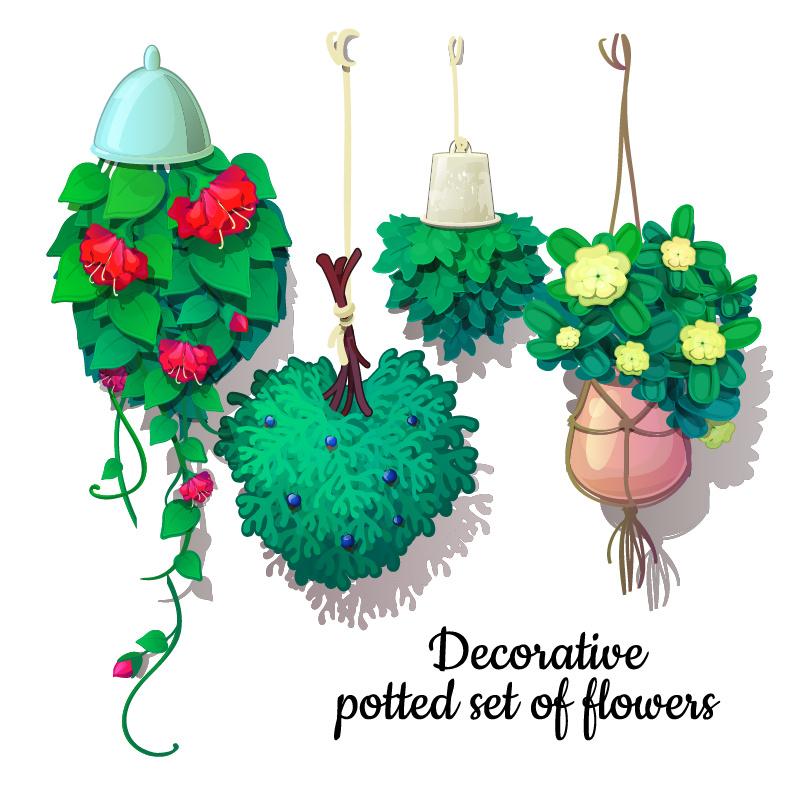 Hanging basket voor bloempotten