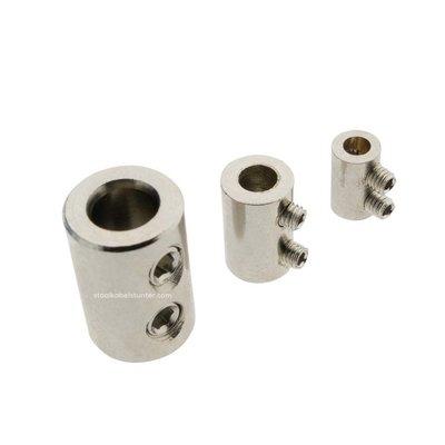 Gewindeanschlag 2.5 und 3mm verchromtes Messing mit doppelter Inbusschraube