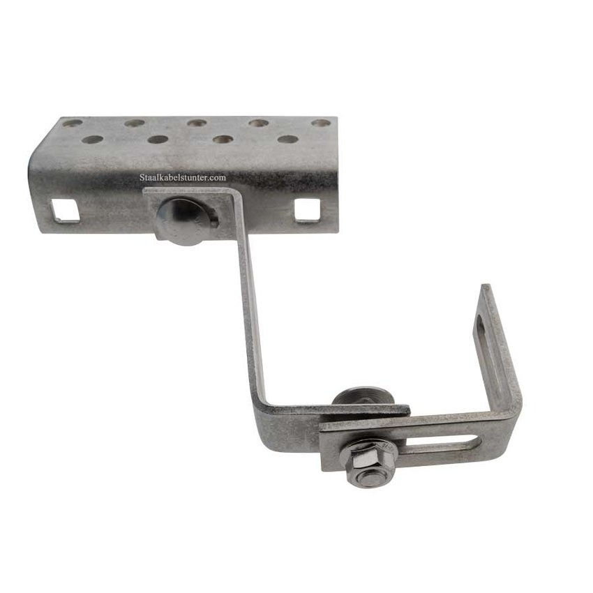 roofhook 3 points adjustable. Stainless steel. Solar fixatie roof tile