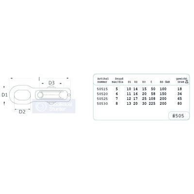 drehbar Blockseilrolle 15mm Wirbel