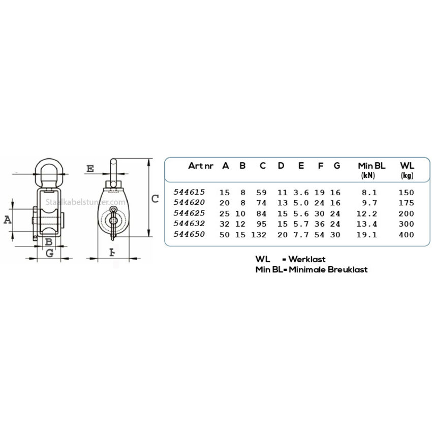 stainless pulleys 50mm