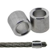 Staalkabel Eindstop 4mm aluminium  Dunwandig