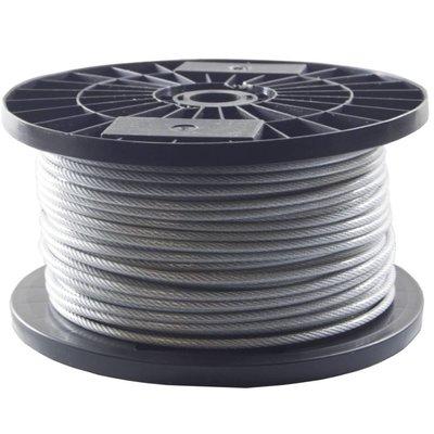 Drahtseile 3/4 mm PVC-ummantelt 50 meter auf Rolle