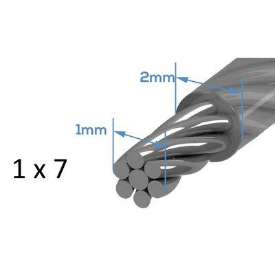 Drahtseill Pvc 20 meter 1-2mm